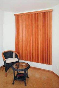 Dřevěné vertikální žaluzie