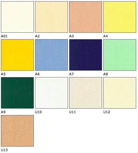 Interierové roletky - vzorník barev