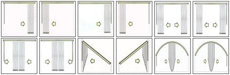 Typy ovládání vertikálních žaluzií
