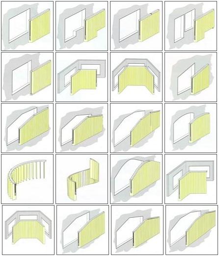Typy vertikálních žaluzií