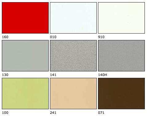 Vzorník barev venkovních žaluzií