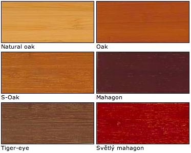 Vzorník barev bambusových žaluzií