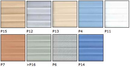 Vzorník barev plisé
